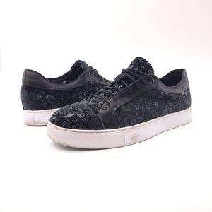 Robert Graham Mens 9 Black Coates Paisley Sneakers